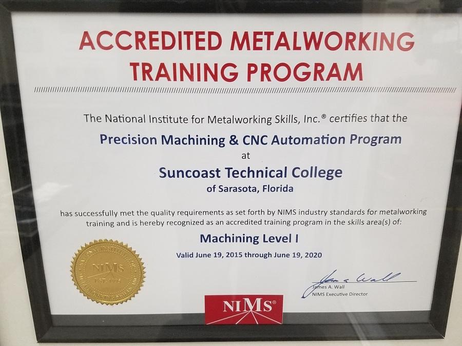 Nims Levl 1 Small Suncoast Technical College Precision